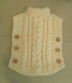 Knitting Patterns Cowl here is a sweaterThis Pin was discovered by hya Baby Knitting Patterns, Baby Sweater Knitting Pattern, Crochet Poncho Patterns, Knitted Poncho, Knitting For Kids, Knitting Stitches, Free Knitting, Crochet Baby Booties, Knit Crochet