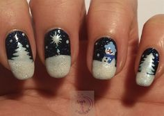 Winter landscape by daysofnailartnl from Nail Art Gallery