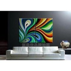 One of my absolute favs!!!MODERN ABSTRACT CANVAS ART OIL PAINTING $159.99