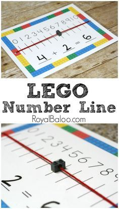 Number Line Addition Practice LEGO Number Line mat for hangs on LEGO addition and subtraction!LEGO Number Line mat for hangs on LEGO addition and subtraction! Math Activities For Kids, Math For Kids, Fun Math, Math Games, Addition Activities, Counting Games, Space Activities, Word Games, Nursery Activities