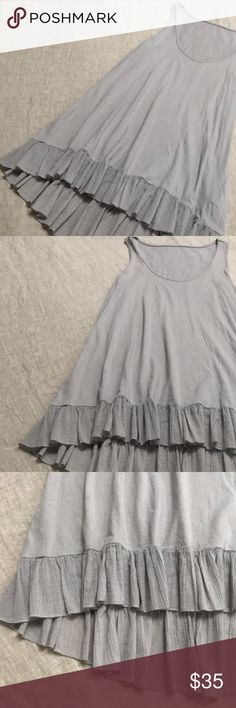 Blue grey Razorback sun dress 100 perfect cotton~ super soft  Great used condition  Perfect under or over something~ quintessential thin layer dress Should fit a S - M Dresses