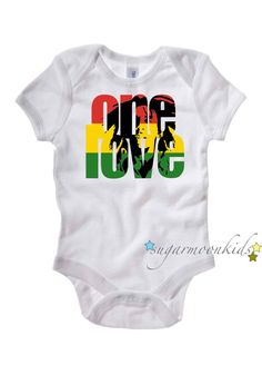 One Love  Bob Marley 1218 months by sugarmoonkids on Etsy, $17.00