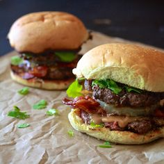 Rethink your burger toppings. Thai Peanut Butter & Bacon Burger.
