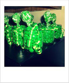Repurposed baby food jars as party favors