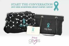 Ovarian cancer ribbons available. https://www.mythirtyone.com/415365/