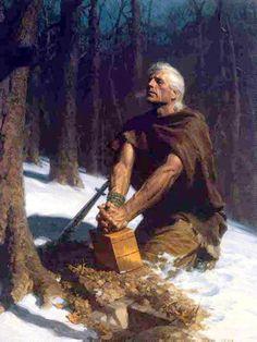Mormon burying the Gold Plates