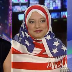 """""""I'll just sit here in my American flag hijab and let you two argue if I love my country or not."""""""
