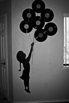 holding records. This could make for a cool wall decal