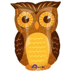 Owl party mylar balloon 18 inch