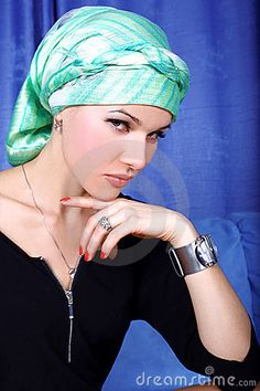 Woman arabic turban