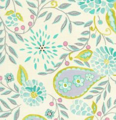 McKenzie Collection Charm Pack by Dena Designs for Free Spirit Fabrics 5 inch quilting squares Lime Green Rooms, Fabric Design, Pattern Design, Quilt Design, Camper Interior Design, Free Spirit Fabrics, Dena, Coordinating Fabrics, Paisley Pattern