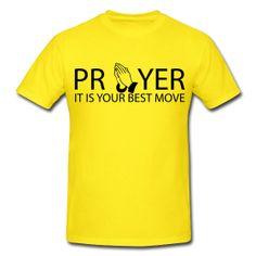 Prayer T-shirt  www.godmoves.spreadshirt.com