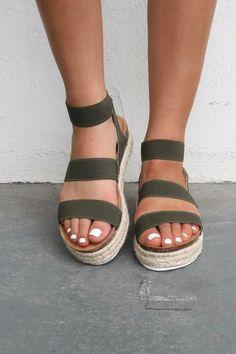 summer shoes No Doubt Olive Platform Espadrilles Amazing Lace - shoes - Stylish Sandals, Cute Sandals, Shoes Sandals, Flats, Sandals Platform, Espadrille Sandals, Espadrilles Outfit, Heeled Espadrilles, Girls Shoes