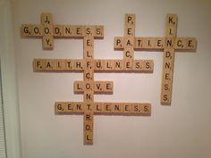 Fruit of the Spirit Scrabble Wall Art