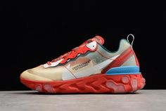 5a67c9e2cf36 Undercover x Nike React Element 87 Red Light Green Sail Men s Size For Sale