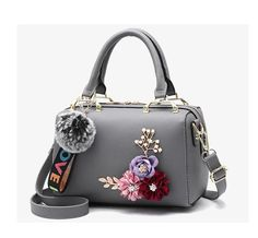 31bda3f185 New spring Women bags Floral women s Leather handbag Fashion Elegant  Shoulder bag Barrel-shaped Tote bag LB937
