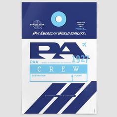 Pan Am, All Names, Name Logo, Color Crafts, Cool Posters, Poster Wall, Helpful Hints, Wall Art Prints, Vibrant Colors