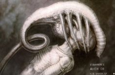 Concept Art for the Facehugger in Alien Have you hugged any faces today? The facehugger, one of the greatest concepts from Alien (I'm not even sure if John Hurt's War Doctor could have defeated this. Hr Giger Alien, Hr Giger Art, Xenomorph, Mark Riddick, Alien 1979, 70s Sci Fi Art, Alien Concept Art, Aliens Movie, Alien Art