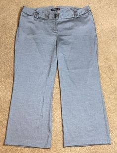 Lane Bryant Pants Gray 6 Dress Pants Career Pinstripe Chino Houston | eBay