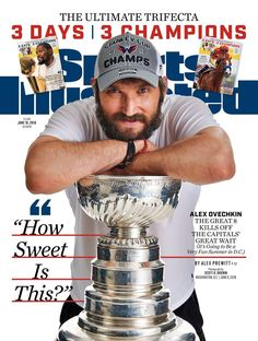 Scott brown traveled to washington and had just a few minutes to capture the photo of alex ovechkin that landed on the cover of sports illustrated. Caps Hockey, Hockey Teams, Ice Hockey, Hockey Cards, Sports Teams, Hockey Players, Washington Capitals Stanley Cup, Alexander Ovechkin, Las Vegas