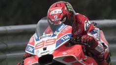 Lorenzo diablo helmet and winged Ducati