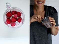 Raw raspberry and vanilla chia seed pudding
