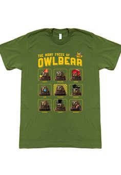 Prep for Season 4 of TableTop with this OwlBear teeshirt!