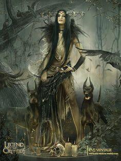 Dark beauty and dogs dark fantasy art, fantasy world, fantasy artwork, fantasy story Dark Fantasy Art, Fantasy Girl, Fantasy Artwork, Chica Fantasy, Fantasy Kunst, Fantasy Women, Dark Art, Fantasy Witch, Fantasy Story