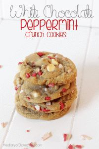 White Chocolate Peppermint Crunch Cookie | The Diary Of DavesWife
