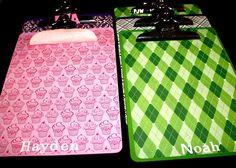 So rather than paying more money for these next year, how about I make my own cool clipboards?