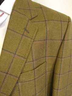 Close up of a tweed we used recently for a bespoke jacket