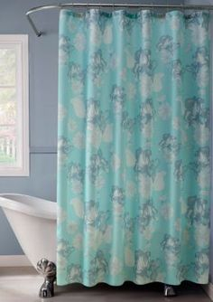 Dainty Home Floral Shower Curtain Set