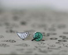 Little Bird Little Tree - Earring Studs - White. $17,00, via Etsy.