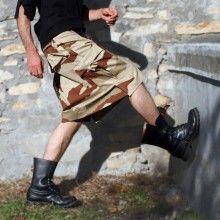 Jupe masculine Hiatus, modèle Trappeur. Hiatus Trappeur menskirt. Mots-clés : Jupe pour homme, Jupe masculine