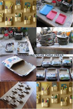 Reciclando bandejas de isopor