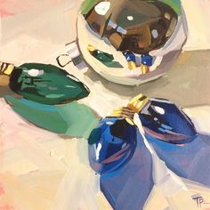 """Christmas Extras"" original fine art by Teddi Parker"