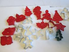 Vintage Christmas Cookie Cutters Red Wilton by suburbantreasure, $25.00