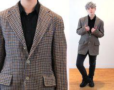 Vintage 80s wool jacket thin Ikat pattern beautiful shimmering T 40