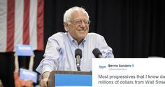 Today, Before delivering a speech to a crowd in Nashua, New Hampshire, U.S. Senator Bernie Sanders got on Twitter andstepped up to Hillary Clinton