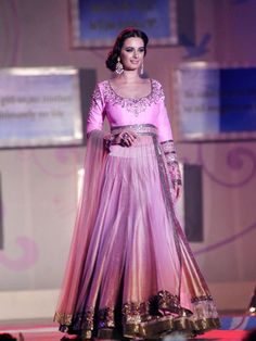 Pink lengha. Manish Malhotra Fashion Show for 'Save & Empower Girl Child'