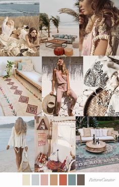 Pattern Curator color, print & pattern trends, concepts, insights and inspiration Colour Pallette, Colour Schemes, Color Trends, Color Patterns, Pattern Curator, E21, Bohemian Pattern, Beach Color, Bohemian Beach