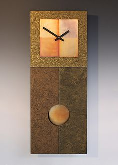 Jane+Pendulum+Clock+in+Gold by Leonie+Lacouette: Wood+Clock available at www.artfulhome.com