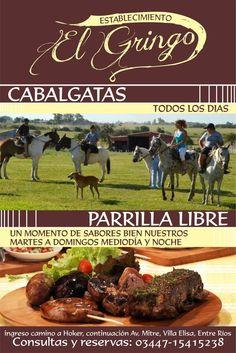 Establecimiento El Gringo Te ofrece cabalgatas y parrilla libre en Villa Elisa, Entre Ríos