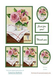 Roses Nature morte. Carte numérique. Papier imprimable. Papier d'artisanat, Carte de voeux, Carte postale, Ephemera, Junk Journal, Collage, Scrapbooking Collages, Scrapbooking Flowers, Still Life, Make Your Own, Art Projects, My Etsy Shop, Greeting Cards, Just For You, Roses