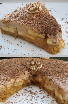 Greek Sweets, Greek Desserts, Greek Recipes, Tart Recipes, Sweets Recipes, Banoffee, Canning Recipes, How Sweet Eats, Sweet And Salty