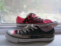 cheap converse all star shoes net full of off Cheap Converse, Converse Sneakers, Converse All Star, Vans Shoes, Cameron Liddell, Sneaker Outlet, Painted Converse, Asking Alexandria, All Star Shoes