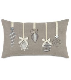 Love this cushion design. It looks striking all in grey and silver. More