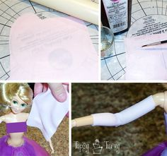 Princess Rapunzel barbie birthday cake tutorial sleeves | Flickr - Photo Sharing!