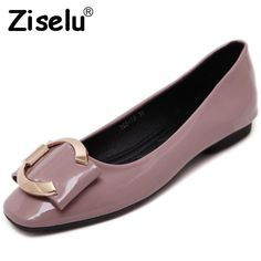 Ziselu 2017 New Bow Women s Ballet Flats Spring Autumn Basic PU Leather Slip -On da36cf78323c