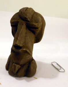 """Saint-Jean-de-Braye"" - Clay, 2013 - based on the ""Hieratic Head of Ezra Pound"" by  Henri Gaudier-Brzeska."
